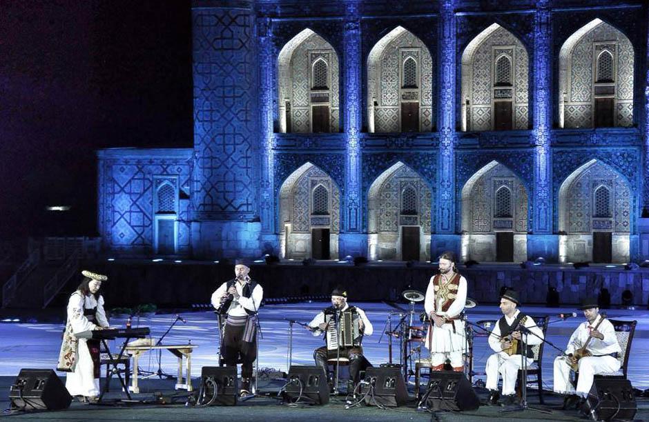 Nastop na festivalu Sharq Taronalari v Samarkandu (UZB), 2015